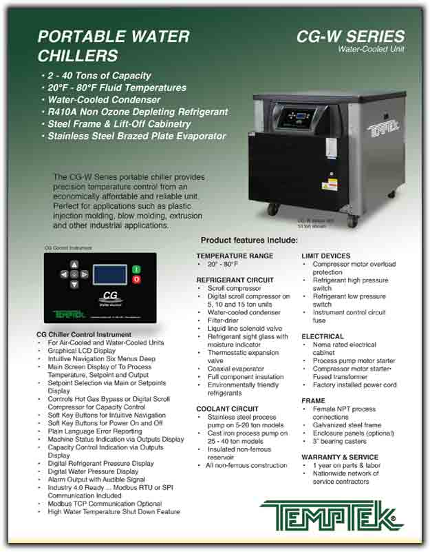 Portable Water Chiller : CG-W Series